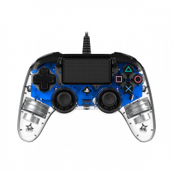 Nacon PS4 Wired Compact Controller (BLUE ILLUMINATED MODEL)
