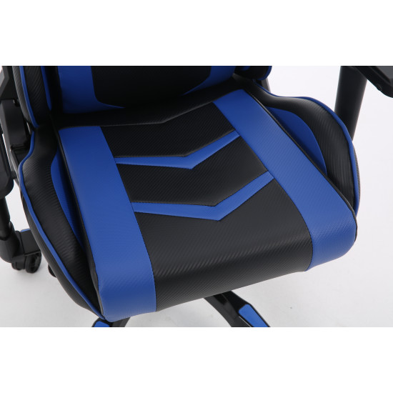 Devo Gaming Chair - Fliktik Carbon Fiber Blue