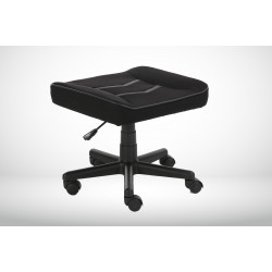 Devo Gaming Chair - Red Knight + Footrest - Black & red